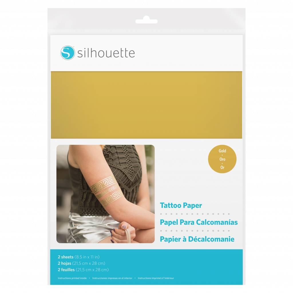 Silhouette Printable tattoo paper