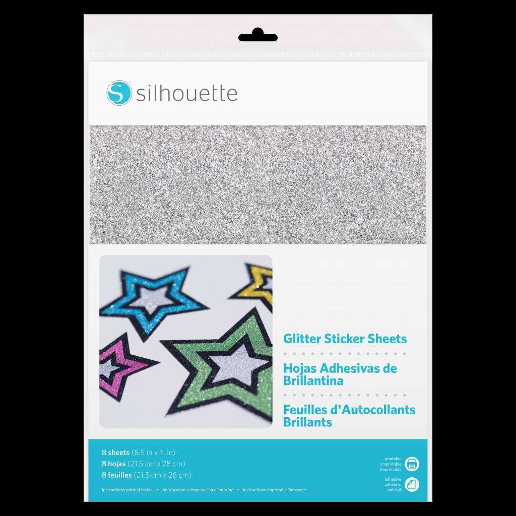 Silhouette Zelfklevend Glitter Papier