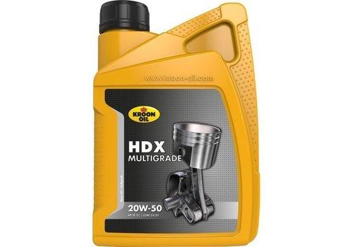 Kroon HDX Multigrade 20W-50 - Motorolie, 1 lt