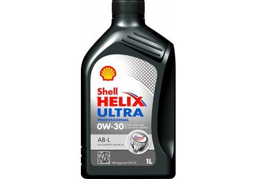 Shell Helix Ultra Pro 0W-30 AB-L - Motorolie, 12 x 1 lt