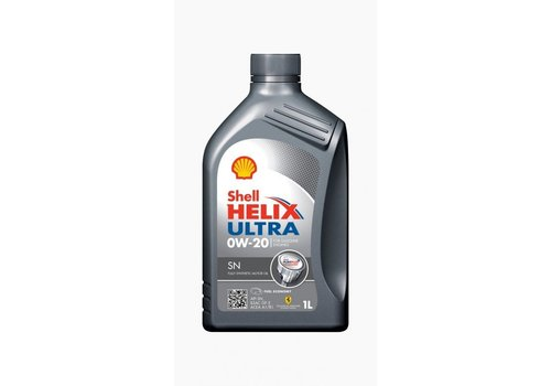 Shell Helix Ultra SN 0W-20 - Motorolie, 12 x 1 lt
