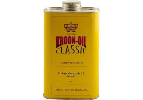 Kroon Motorolie Vintage Monograde 30, doos 6 cans