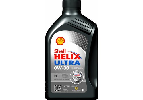 Shell Helix Ultra 0W-30 ECT - Motorolie, 1 lt