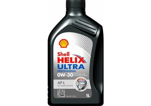 Shell Helix Ultr PRO AP-L 0W30 - motorolie, 1 liter flacon
