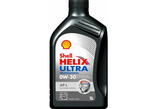 Shell Helix Ultra Pro 0W-30 AP-L - Motorolie, 1 lt