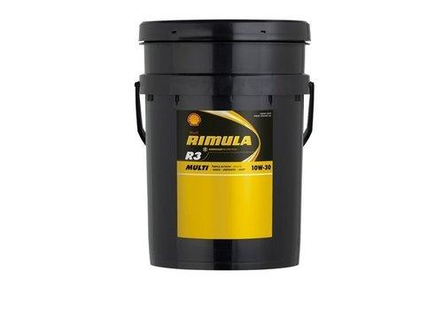 Shell Rimula R3+ 30 - Heavy duty engine olie, 20 lt