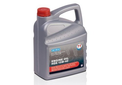 77 Lubricants Engine Oil HDX 15W-40, 5 lt