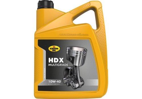Kroon HDX Multigrade 10W-40 - Motorolie, 5 lt