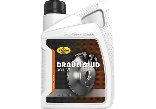 Kroon Drauliquid DOT 3 - Remvloeistof, 1 lt