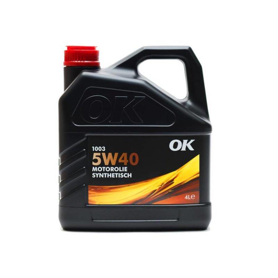 5W-40 motorolie 1003-5W40, doos 4x4 ltr