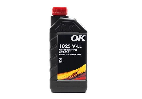 OK Olie 0W-30 motorolie 1025 V-LL 0W30, can 1 liter