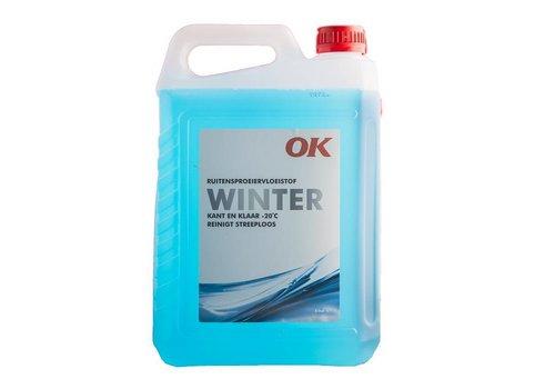 OK Olie Ruitensproeiervloeistof Winter, flacon 5 ltr