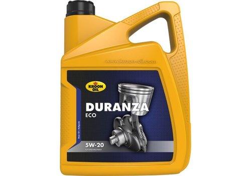 Kroon Motorolie Duranza ECO 5W20, doos 4 x 5 ltr flacon can