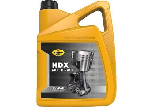Kroon HDX Multigrade 15W-40 - Motorolie, 5 lt