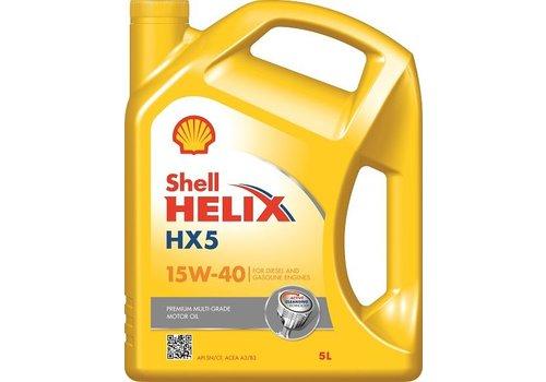 Shell Helix HX5 15W-40 - Motorolie, 3 x 5 lt