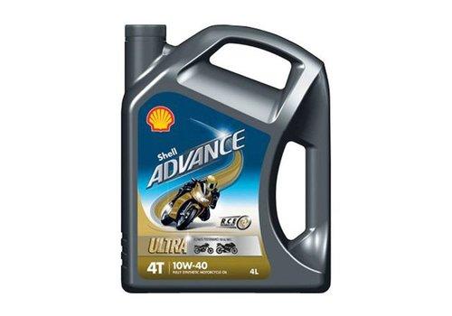 Shell Advance 4T Ultra 10W-40 - Motorfietsolie, 4 lt