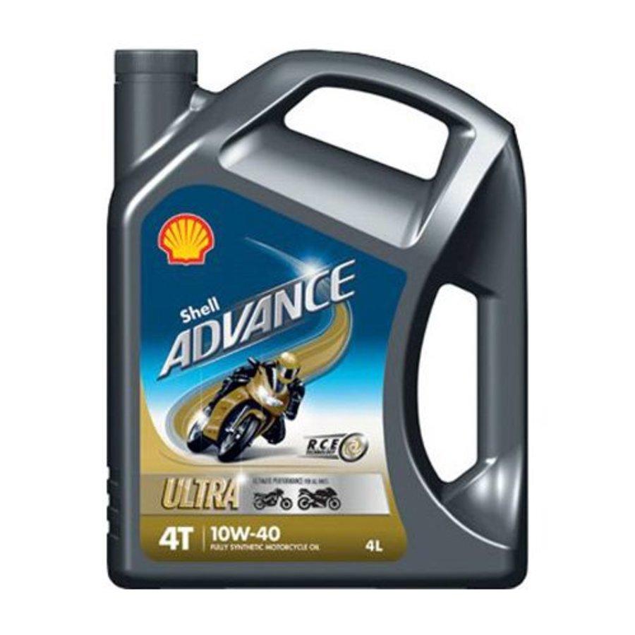 Advance 4T Ultra 10W-40 - Motorfietsolie, 4 x 4 lt
