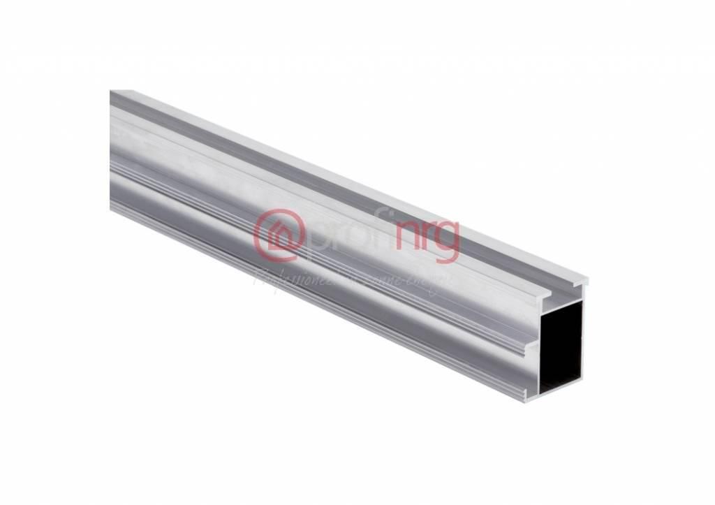 Montage aluminium rail 47x37 lengte 6,20 meter per krat