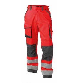 Dassy Chicago -  Warnschutz Bundhose mit Kniepolstertaschen - ROT/GRAU