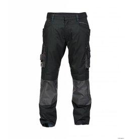 Dassy Zweifarbige Bundhose mit Kniepolstertaschen - Schwarz/Grau - Nova