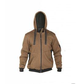 Dassy Sweatshirt Jacke Zweifarbig - Pulse - Braun-Grau