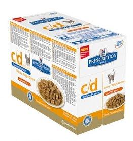 Hill's Hill's Prescription Diet Feline c/d Urinary Stress Reduced Calorie Chicken 12x85gr
