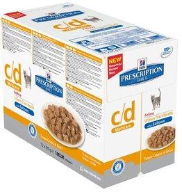 Hill's Hill's Prescription Diet Feline c/d Urinary Stress salmon 12x85g