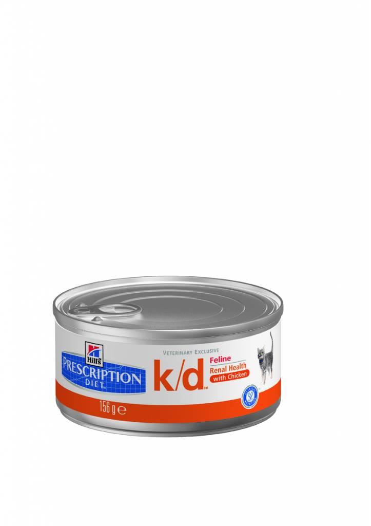 Hill's Hill's Prescription Diet Feline k/d Minced with Chicken 24x 156gr
