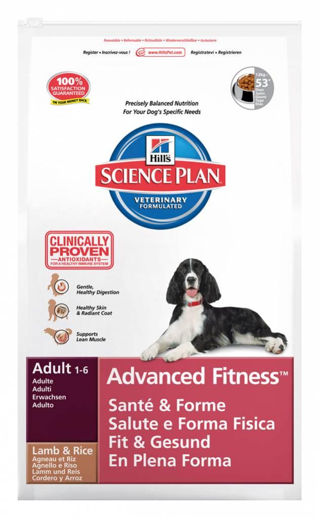 Hill's Hill's Science Plan Canine Adult Advanced Fitness Medium Lamb & Rice 18kg