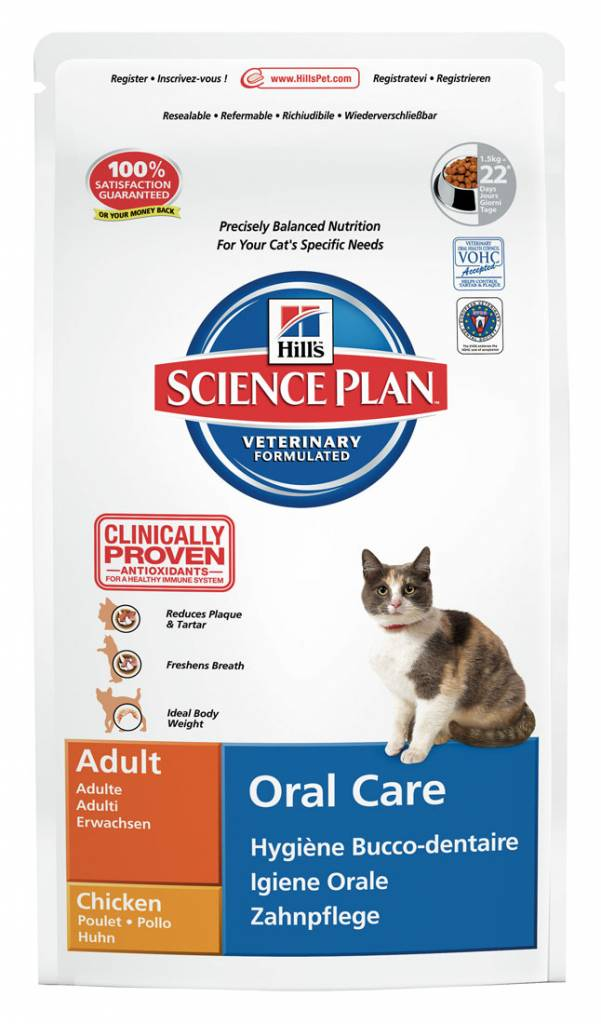 Hill's Hill's Science Plan Feline Adult Oral Care Chicken 5kg