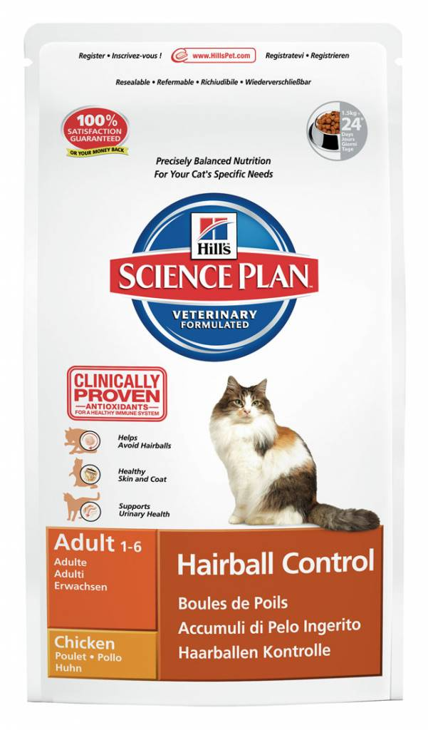 Hill's Hill's Science Plan Feline Adult Hairball Control Chicken 5kg