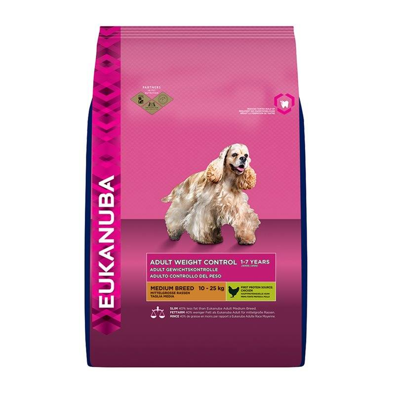 EUKANUBA EUKANUBA DOG ADULT WEIGHT CONTROL MEDIUM 12 KG