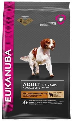 EUKANUBA EUKANUBA DOG ADULT SMALL/ MEDIUM BREED (LAM) 2,5 KG