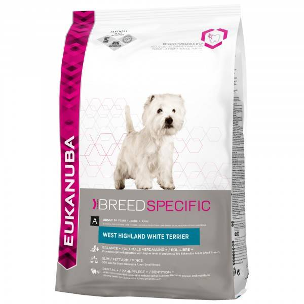EUKANUBA EUKABUBA DOG WEST HIGHLAND WHITE TERRIER 2,5 KG