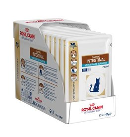 Royal Canin Royal Canin Gastro Intestinal Moderate Calorie Kat maaltijdzakjes 12x100g