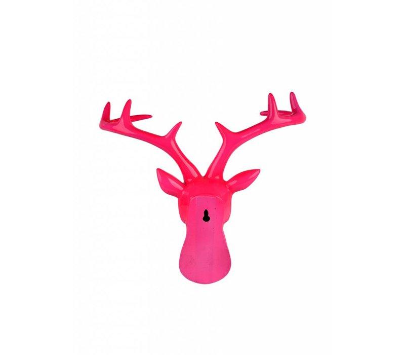 Pink Resin Deer Head