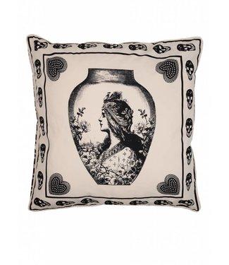 Antiek skull sierkussen ǀ 65x65 ǀ Femme Riche