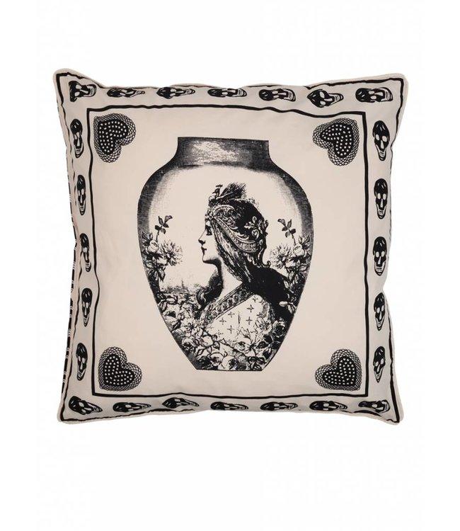 Antique skull cushion ǀ 65x65 ǀ Femme Riche