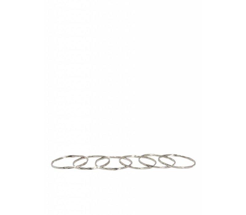 Zilveren Stapelringen