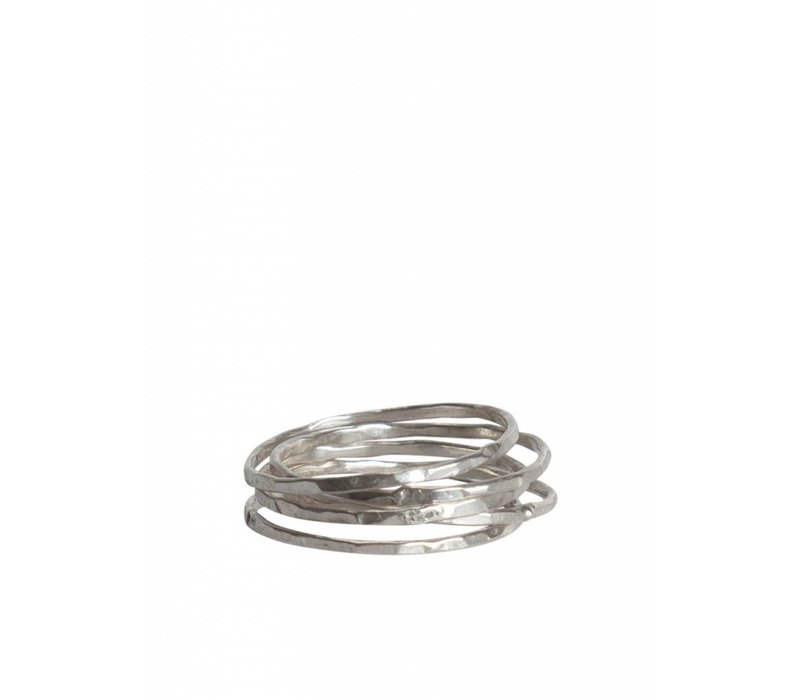 Zilveren Minimalistische Stapelringen