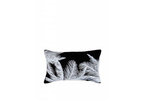 'Palmboom' Kussen ǀ 50x30 ǀ Zwart