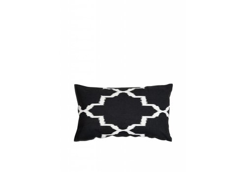 'Ikat' cushion ǀ 50x30 ǀ Black