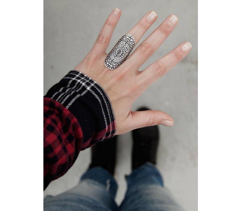 Grote Mandala Statement Ring ǀ Menssana