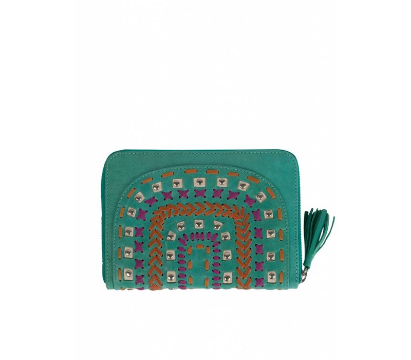 Turquoise Leather Wallet | Tallara | Mahiya Leather