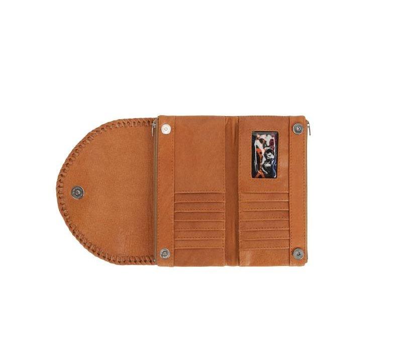 Stoere Bruin Leren portemonnee Mahiya Leather