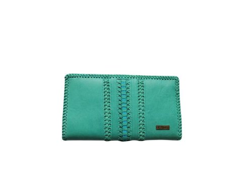 KiVARi Leather Clutch | Dessert Dream | Turquoise