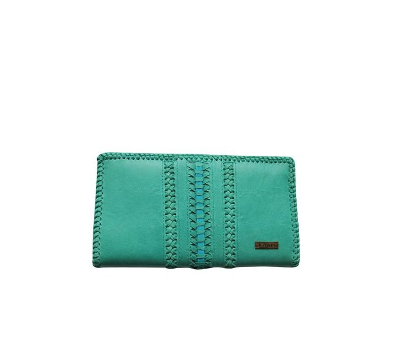 Leather Clutch | Dessert Dream | Turquoise