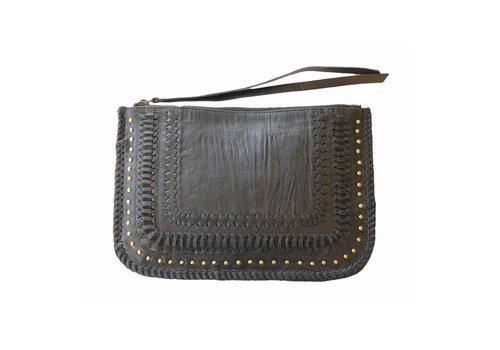 KiVARi Leather Clutch | Favella | Black