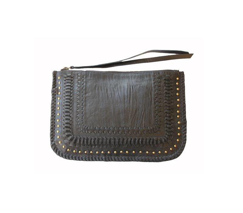 Leather Clutch | Favella | Black