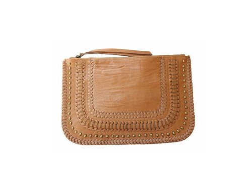 KiVARi Leather Clutch | Favella | Tan